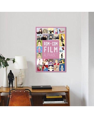 "East Urban Home 'Rom-Com Film Alphabet' Graphic Art Print on Canvas UBAH5336 Size: 18"" H x 12"" W x 1.5"" D"