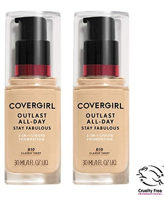 COVERGIRL COVERGIRL outlast all-day stay fabulous 3-in-1 foundation, soft honey, pack of 2, 1 Ounce