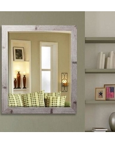 "Beachcrest Home Rectangle Antique Wall Mirror BCHH4403 Size: 33.5"" W X 37.5"" H"