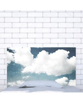 Noyo Home Upholstered Panel Headboard SkyWhiteClouds_ Size: Full