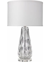 Jamie Young Laurel Clear Glass Ribbon Table Lamp