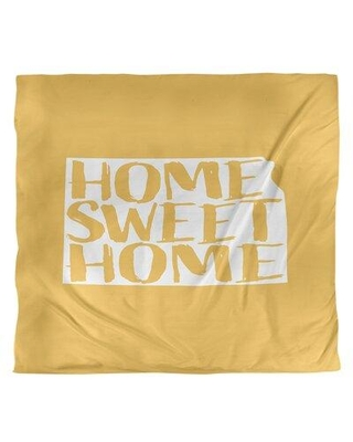 East Urban Home Home Sweet Kansas Duvet Cover - Brushed Polyester EBJI1703 Size: King Duvet Cover Color: Yellow Fabric: Brushed Polyester