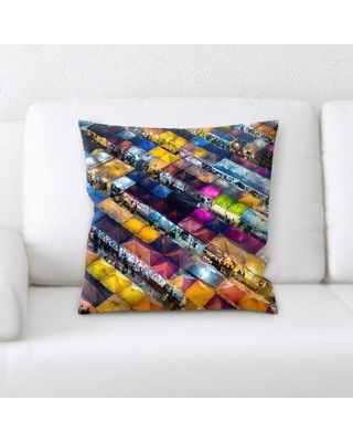 East Urban Home Sharp Colors Throw Pillow BF124108
