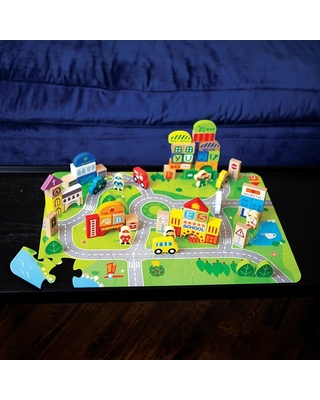 My Town Block Set - Building & Construction for Ages 2 to 3 - Fat Brain Toys