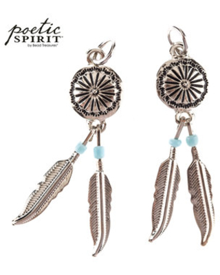 Amazing Fall Sales Concho Feather Pendants With Beads