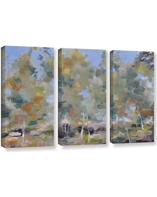 "Red Barrel Studio 'Dancing Birch' Painting Print Multi-Piece Image On Wrapped Canvas RDBL5452 Size: 36"" H x 54"" W x 2"" D"