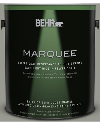 BEHR MARQUEE 1 gal. #MQ6-21 Hunters Hollow Semi-Gloss Enamel Exterior Paint and Primer in One
