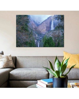 """East Urban Home 'Yosemite Falls in Spring Yosemite National Park California' Graphic Art Print on Canvas ESBH7886 Size: 18"""" H x 26"""" W x 0.75"""" D"""