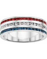 Traditions Sterling Silver Swarovski Crystal Eternity Ring, Women's, Size: 6