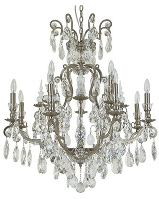 Rosenthal 13-Light Candle Style Classic / Traditional Chandelier with Crystal Accents Accents