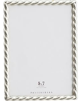 """Rope Plated Frame, Silver - 5 x 7"""""""