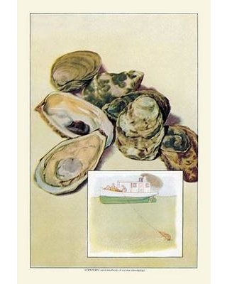 Buyenlarge Oysters Vintage Advertisement 0-587-07912-6