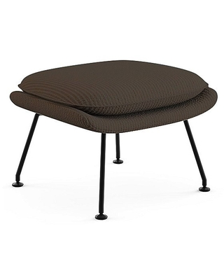 Saarinen Womb Ottoman by Knoll - Color: Brown - Finish: Black - (74YM-BL-K1207/15)