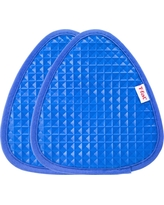 "2pk Blue Waffle Silicone Pot Holder (7.5""x8.25"") - T-Fal"