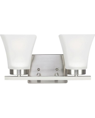 Sea Gull Lighting Bayfield 2-Light Brushed Nickel Wall Sconce