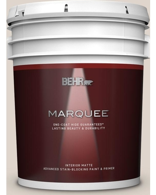 BEHR MARQUEE 5 gal. #N230-1 Castle Beige Matte Interior Paint and Primer in One