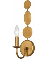 """Crystorama Layla 15 1/2"""" High Antique Gold Wall Sconce"""