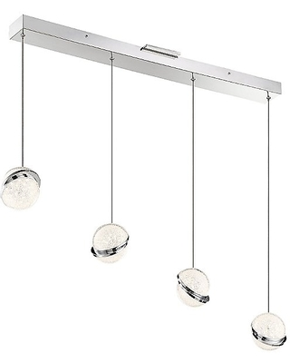 Silver Slice Linear LED Multi Light Pendant Light by George Kovacs