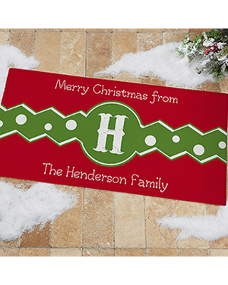 Personalized Christmas Oversized Doormat - Jolly Jester