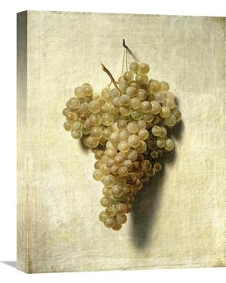 "Global Gallery 'White Grapes (Raisons Blancs)' by Louis Leopold Boilly Painting Print on Wrapped Canvas GCS-281741-22-142 / GCS-281741-30-142 Size: 22"" H x 17.21"" W x 1.5"" D"