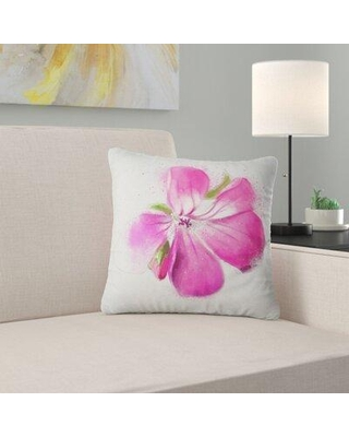 """East Urban Home Floral Full Bloom Flower Watercolor Pillow FUSI6187 Size: 18"""" x 18"""" Product Type: Throw Pillow"""