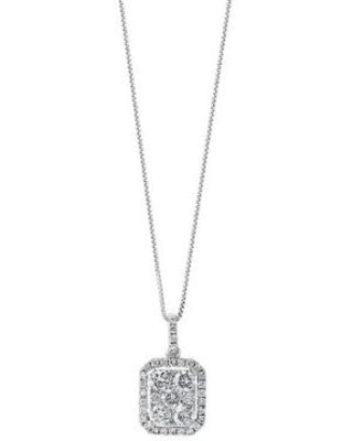 Effy White Gold 7/8 ct. t.w. Diamond Pendant Necklace in 14K White Gold