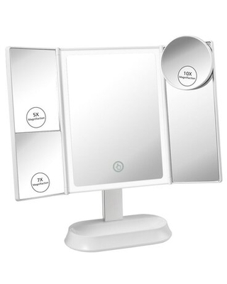 Freeby Beveled Lighted Magnifying Makeup Mirror Ebern Designs