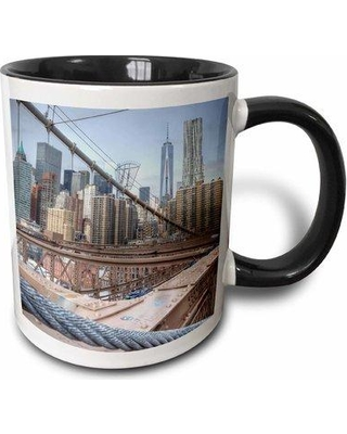 Symple Stuff Thame View of Nyc Skyline From Bridge Coffee Mug W000414223 Color: Blue