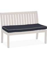 "Universal 48"" Banquette Bench Cushion, Sunbrella(R) Contrast Piped, Navy"