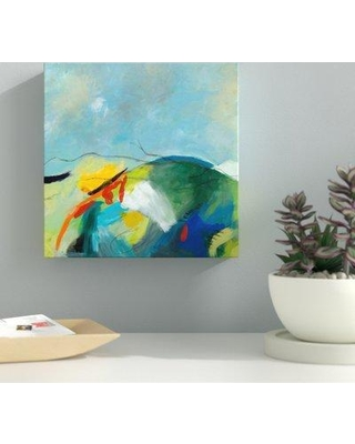 """Ebern Designs 'Alpine II' Acrylic Painting Print on Wrapped Canvas BI044292 Size: 10"""" H x 10"""" W x 2"""" D Format: Wrapped Canvas"""