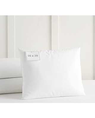 Decorative Pillow Insert, 16x20in, White