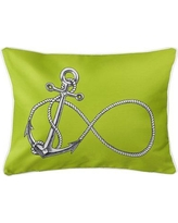 Rosecliff Heights Berwick Infinity Anchor Lumbar Pillow ROHE5983 Color: Lime