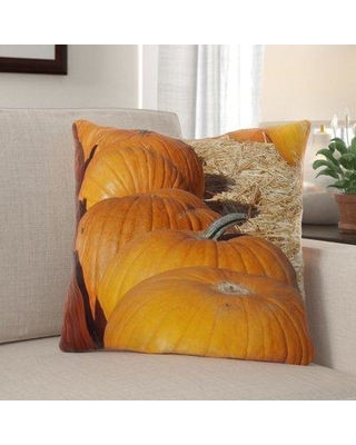 The Holiday Aisle Garth Pumpkins Indoor/Outdoor Throw Pillow W000055549