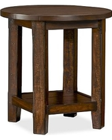 Benchwright Side Table, Rustic Mahogany stain