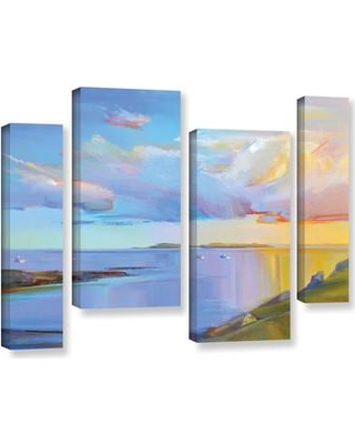 "Latitude Run Ready Summer 4 Piece Painting Print on Wrapped Canvas Set LTRN7300 Size: 24"" H x 36"" W x 2"" D"
