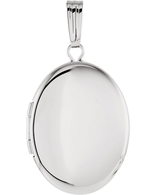 Curata 925 Sterling Silver Oval Photo Locket Pendant Necklace With Engraved 29.25x15.5mm Jewelry Gifts for Women