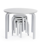 5pc Kids' Nordic Table and Chair Set Gray - Guidecraft