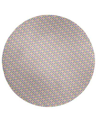 East Urban Home Multicolor Geometric Ombre Pattern Poly Chenille Rug EBKQ9289 Rug Size: Round 5'