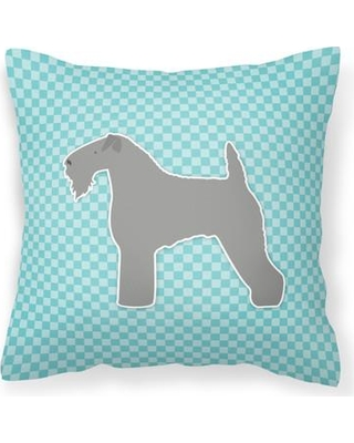 """East Urban Home Kerry Terrier Indoor/Outdoor Throw Pillow EBHR2568 Color: Blue Size: 18"""" H x 18"""" W x 3"""" D"""