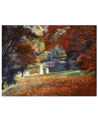 Trademark Fine Art 'October Reflects In The Lake' Canvas Art by David Lloyd Glover