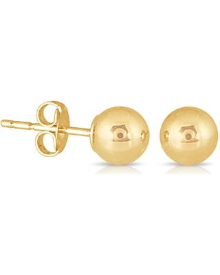 Marquee Jewels 10k Yellow Gold 4-millimeter Ball Stud Earrings (Yellow)
