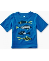 Tea Collection School of Fish Graphic Baby Tee