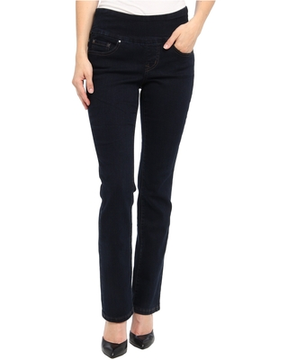 Jag Jeans Petite Petite Paley Pull-On Slim Boot Jeans (After Midnight) Women's Jeans