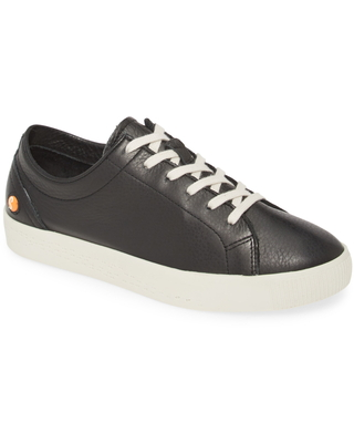 Softinos by Fly London Fly London Sady Sneaker, Size 5.5Us in Black Smooth Leather at Nordstrom
