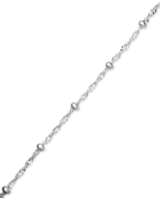 Giani Bernini Sterling Silver Ankle Bracelet, Singapore Chain, Created for Macy's