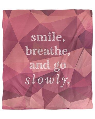 East Urban Home Go Slowly Quote Single Duvet Cover FCLK5772 Size: Queen Duvet Cover Color: Pink Tourmaline