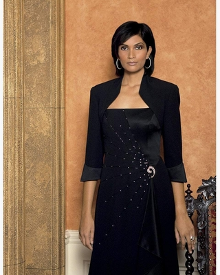 Alexander by Daymor - 2006 Sleeveless Beaded Embellished Gown with Bolero