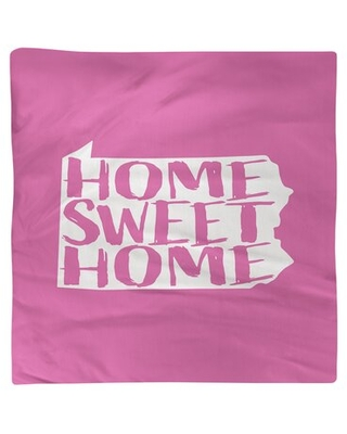 """Home Sweet Pennsylvania Napkin East Urban Home Color: Pink, Size: 10"""" W x 10"""" D, Material: Polyester"""
