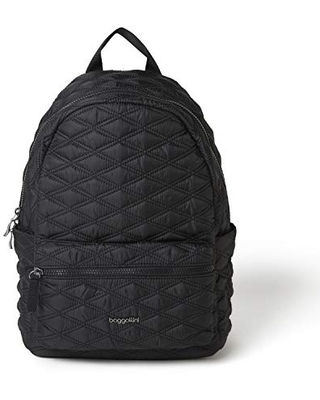 Baggallini Women's Quilted Backpack, Black, One Size