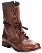Steve Madden Women's Troopa Lace-up Combat Boots - Brown Leather